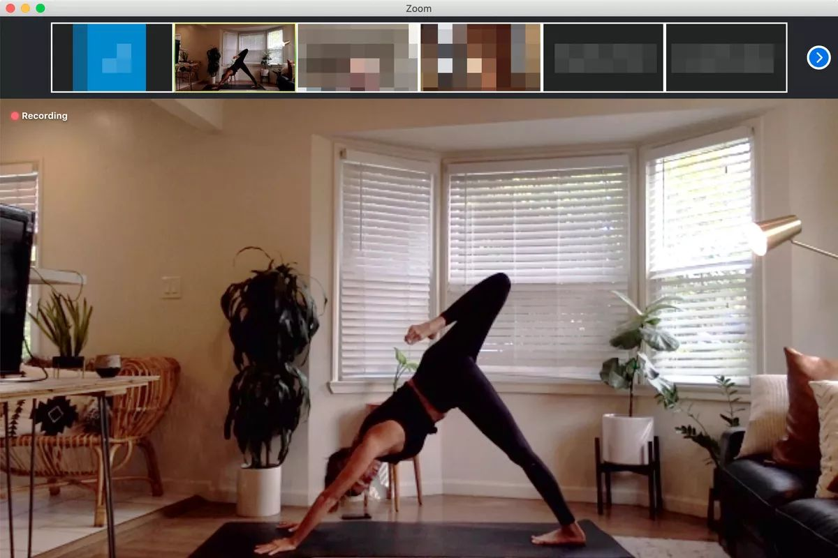 Zoom Pilates at home